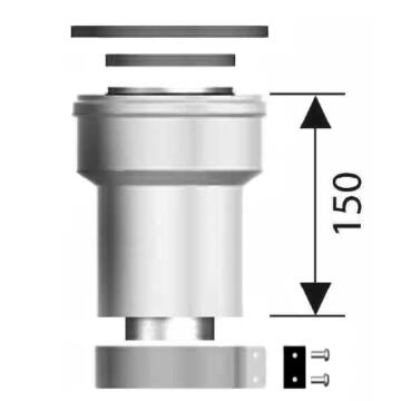 Ariston PPS/ALU 80/125 függőleges indítóidom (3318095)