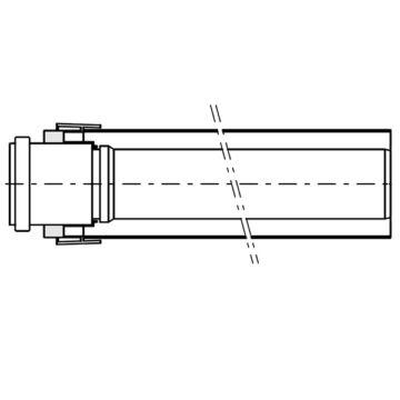 Viessmann 60/100 PPs AZ-cső 100 cm