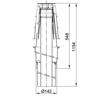 Viessmann 60/100 PPs AZ-tetőátvezetés fekete