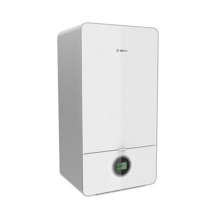 Bosch Condens 7000 iW GC7000iW 24 P 23 fűtő 24 kW kondenzációs gázkazán fehér üveg burkolattal