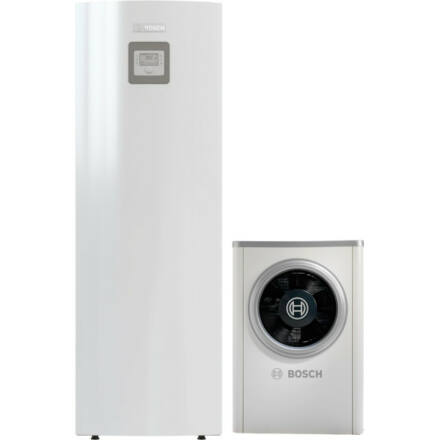 Bosch Compress 6000 AWM S és ODU AW-7 levegő-víz hőszivattyú monoblokk, HMV tárolós, elektromos fűtőpatronnal (8731750123)