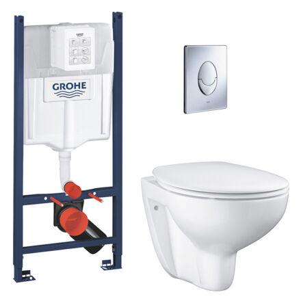 Grohe falsík alatti wc-tartály + Skate Air króm nyomólap + Grohe fali wc + wc ülőke 38840000