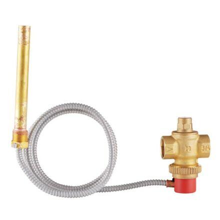 """Honeywell termikus elfolyó szelep szilárd tüzelésű kazánhoz 95°C kapilláris 1,3 m 3/4"""""""