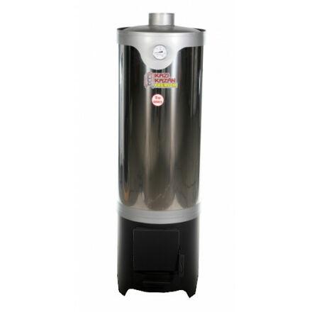 Kazi fatüzelésű fürdőszobai vízmelegítő 120 literes - INOX, csaptelepes kialakítás csaptelep nélkül