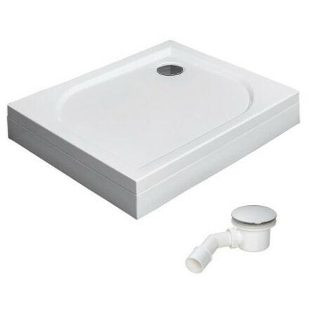 Radaway Delos D zuhanytálca 100x75 cm akril, lábbal, levehető előlappal, ST90 szifonnal, jobbos