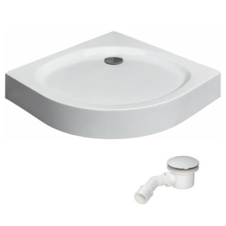 Radaway Patmos A zuhanytálca 80x80 cm akril, lábbal, levehető előlappal, ST90 szifonnal 4S88155-03