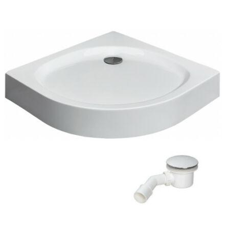 Radaway Patmos A zuhanytálca 90x90 cm akril, lábbal, levehető előlappal, ST90 szifonnal 4S99155-03