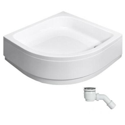 Radaway Samos A zuhanytálca 90x90 cm akril, lábbal, levehető előlappal, ST50 szifonnal 4S99300-03
