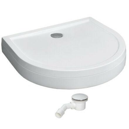 Radaway Delos P zuhanytálca 100x90 cm, akril, lábbal, levehető előlappal, ST90 szifonnal 4Z19150-03N
