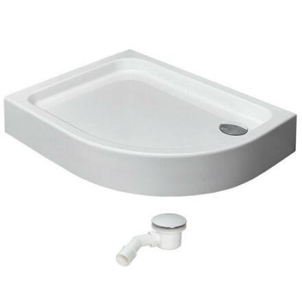 Radaway Laros A zuhanytálca 85x85 cm akril, előlapos, lábbal, ST90 szifonnal SLA 8585-01