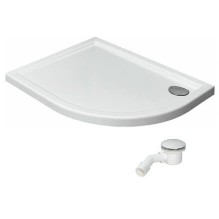 Radaway Tasos E zuhanytálca 100x80 cm akril, lapos, ST90 szifonnal, balos STE1086-30L