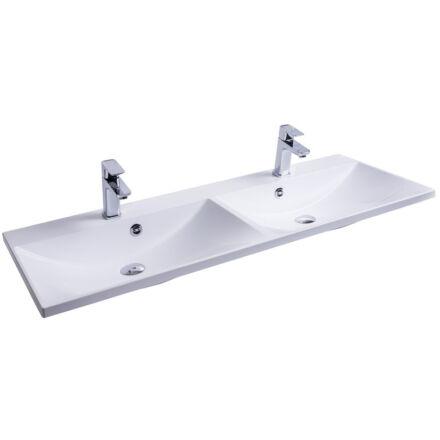 RAVAK Flat Duo 120x46 mosdó fehér, túlfolyóval