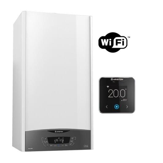 Ariston Clas One Net 24 kondenzációs kombi kazán Cube S Net Wifis termosztáttal