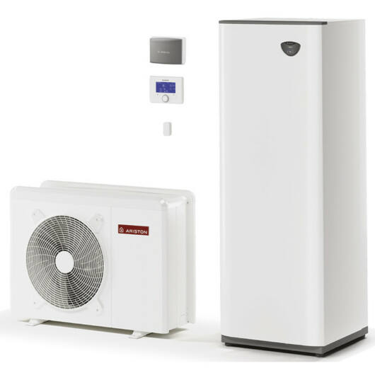 Ariston Nimbus Compact 40 M 2Z NET hőszivattyú rendszer monoblokk, 4 kW, 180 l tároló, wifi kapcsolat, 2 fűtőkör (3301159)