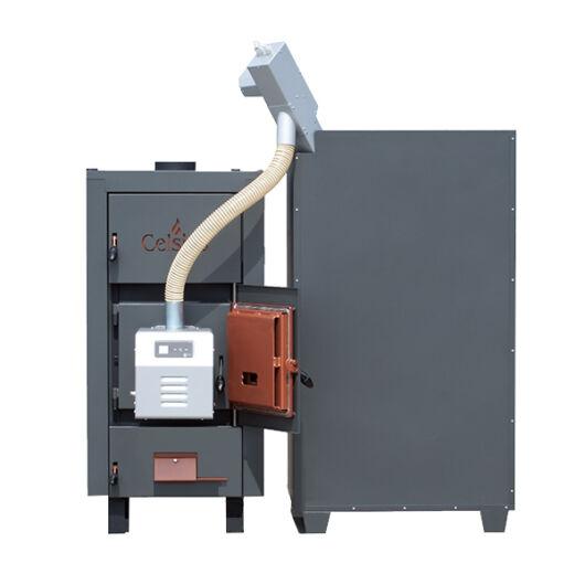 Celsius Combi 25-29 kazán pellet készlettel, 29 kW fa/pellet