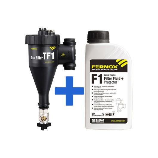 """FERNOX Total filter TF1 3/4""""  mágneses iszapleválasztó + Filter Fluid+protector folyadék (62147)"""