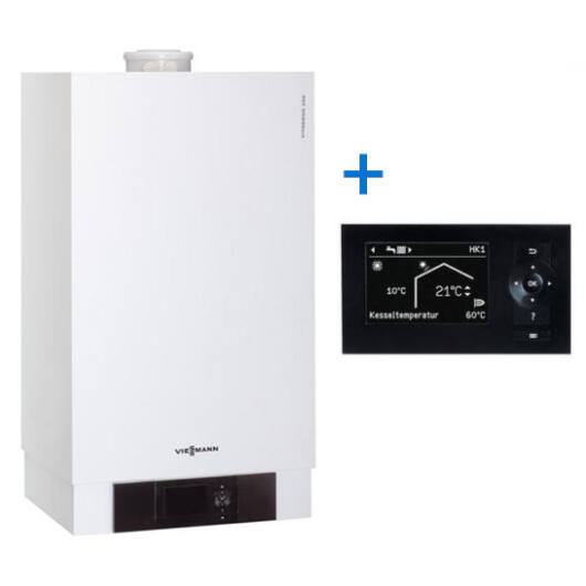 Viessmann Vitodens 200 35 kW fűtő kazán + Vitotronic 200