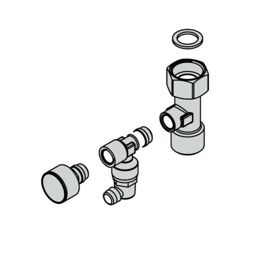 Viessmann előremenő közdarab nyomásmérővel (ZK05681)
